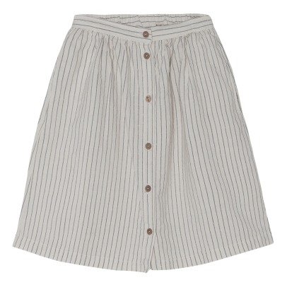 Yellowpelota Striped Organic Cotton and Linen Skirt-listing