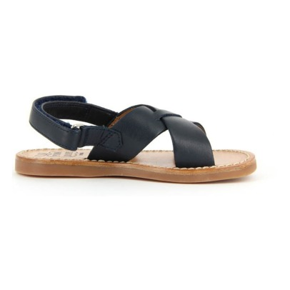 Pom d'Api Sandales Cuir Softy Plage Stitch Cross-listing