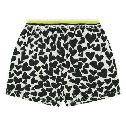 Douuod Heart Print Shorts-listing