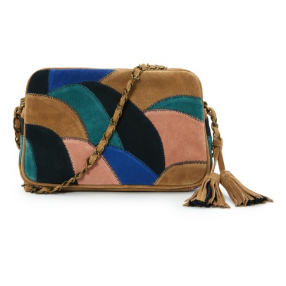 Sessun Ettore Split Leather Patchwork Bag-listing