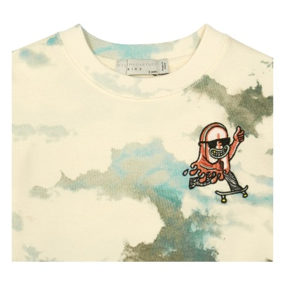 Stella McCartney Kids Sweatshirt aus Bio-Baumwolle Tie and Dye Biz -listing