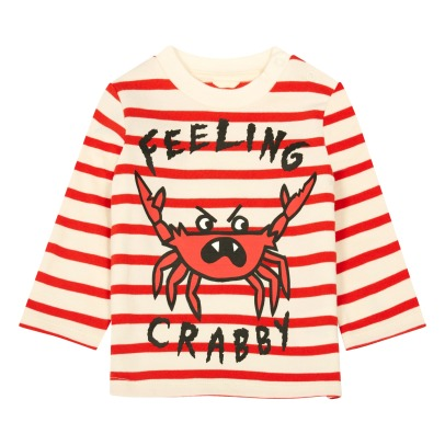 Stella McCartney Kids Marinière Coton Bio Crabe Ted-product