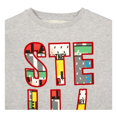"Stella McCartney Kids June ""Stella"" Crop Sweatshirt-listing"