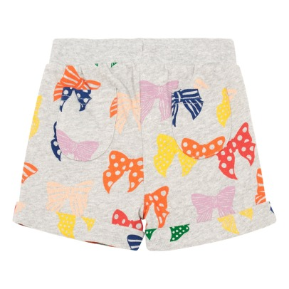 Stella McCartney Kids Cookie Bow Organic Cotton Fleece Shorts-listing