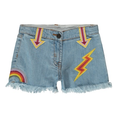 Stella McCartney Kids Marlin Embroidered Patch Shorts-listing