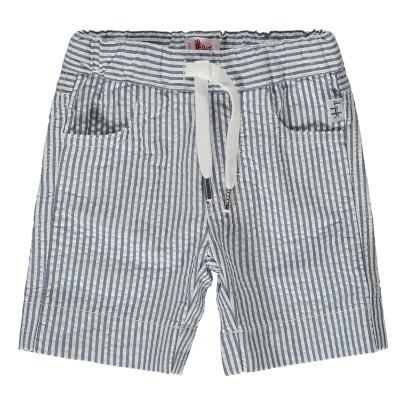 Sale - Ruffle Striped Seersucker Shorts - Il Gufo Il Gufo Pn92Ok3