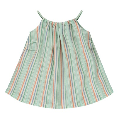Caramel Windermere Striped Sun Dress-product