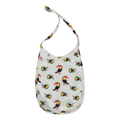 Le Petit Lucas du Tertre Toucans Sweat Lined Cotton Bib-listing