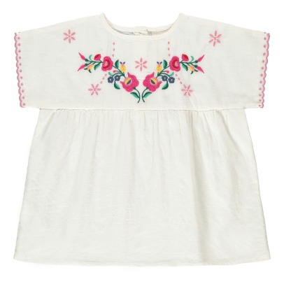 Louis Louise Reglisse Embroidered Flower Blouse-listing