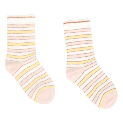 Bonton Milk Lurex Striped Socks-listing