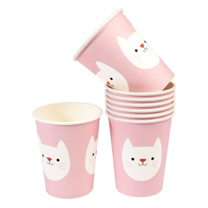 Rex Cookie The Cat Paper Cups - Set of 8-listing