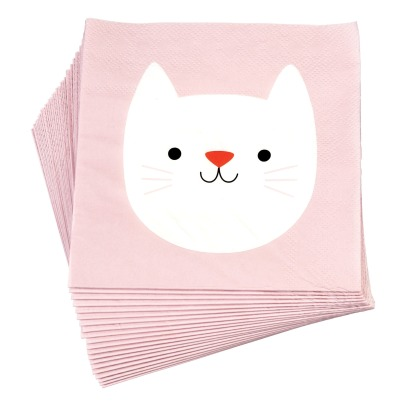 Rex Serviettes en papier Cookie le chat - Set de 20-listing