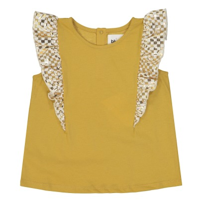 Blune Kids Top Volants Motifs Dorés New Wave-listing