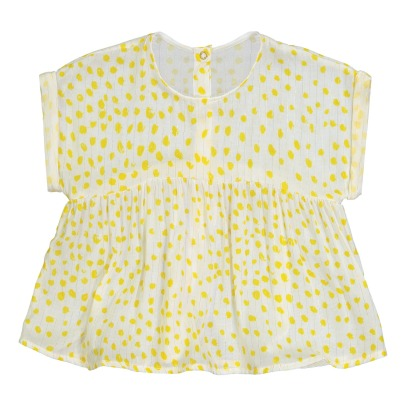 Blune Kids Sunlight Lurex Stripe Dot Blouse-listing