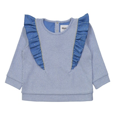 Blune Kids Sweat Chevrons Volants Pois Splash-listing