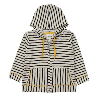 Blune Kids Love Boat Zip-Up Stripe Sweatshirt-listing