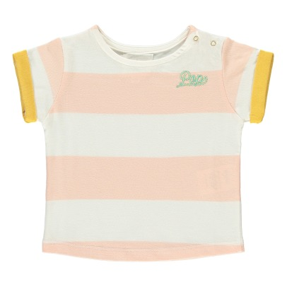 "Blune Kids T-shirt a righe con ricamo ""Pop""-listing"