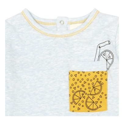 Blune Kids T-shirt Poche Verre Citronnade Happy Hour-listing