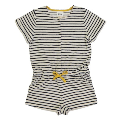 Blune Kids Love Boat Striped Sweat Playsuit-listing