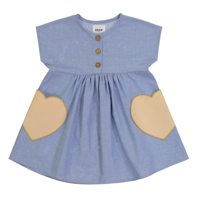 Blune Kids Robe Chambray Poches Cœurs Candy-product