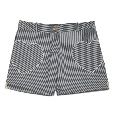 Blune Candy Heart Striped Shorts-listing