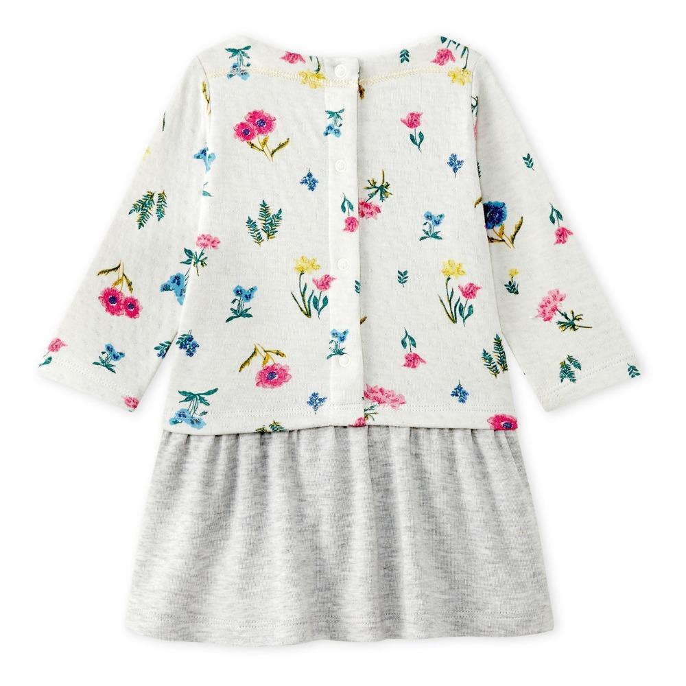 Sale - Marianka Foral Fleece Dress - Petit Bateau Petit Bateau Outlet Latest 2VZDiILe