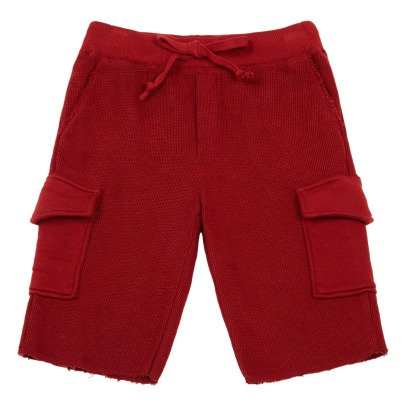 De Cavana Textured Cargo Fleece Shorts-listing