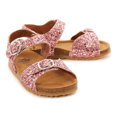 Pèpè Two Con Me - Glitter Double Buckle Sandals-listing