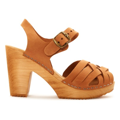 Leon & Harper Koping Leather High Heel Clogs-listing