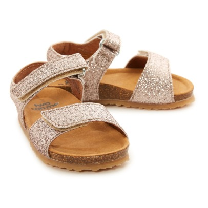 Pèpè Two Con Me - Glitter Double Velcro Sandals-listing