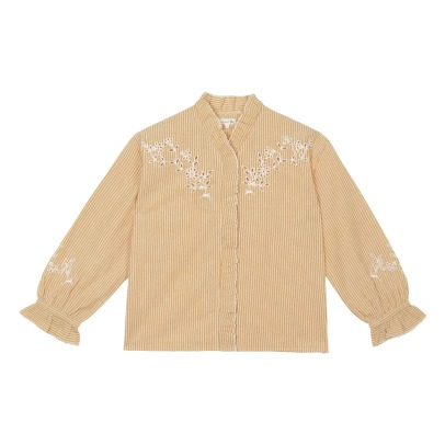 Soeur Daisy Embroidered Stripe Shirt-listing