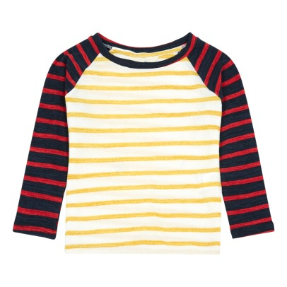 Atelier Barn Jim Two-Tone Striped T-Shirt-listing