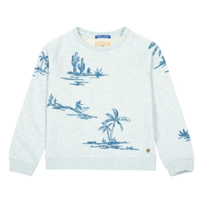 Scotch & Soda Sweatshirt Surfer Palmenmuster -listing