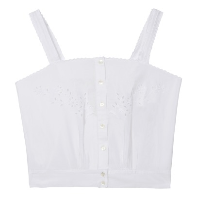 Soeur Denise Embroidered Poplin Top-listing