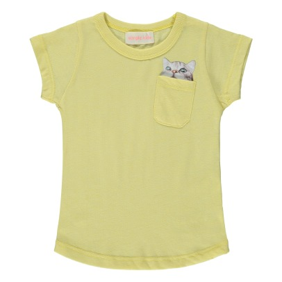 Simple Kids T-shirt gatto con tasca -listing