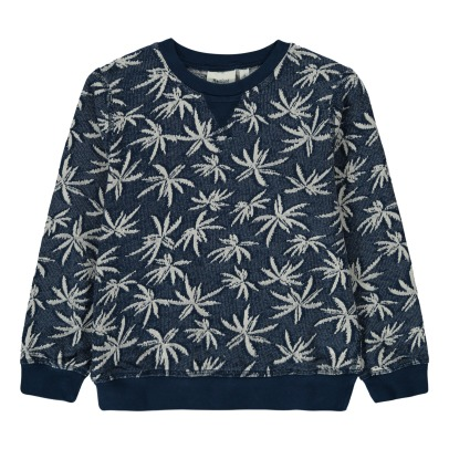 Hartford Palm Tree Leaf Jacquard Jumper-listing