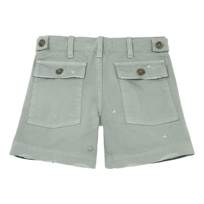 Douuod Embroidered Star Shorts-listing