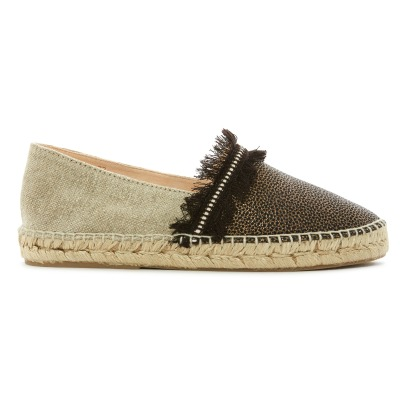 Craie Simple Sole Mesh & Leather Espadrilles-listing