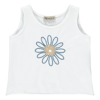 De Cavana Sequin Embroidered Flower Vest Top-listing