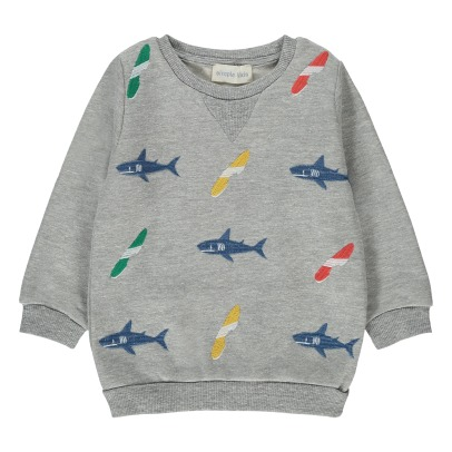 Simple Kids Sweatshirt mit Stickerei Boards -listing