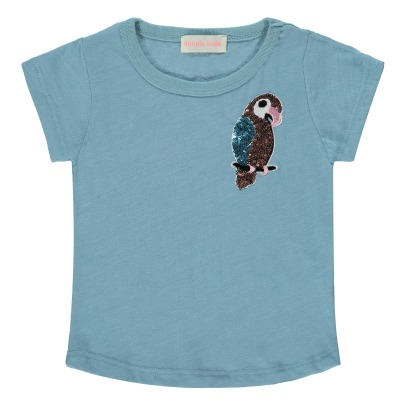Simple Kids T-Shirt Perroquet Sequins-listing