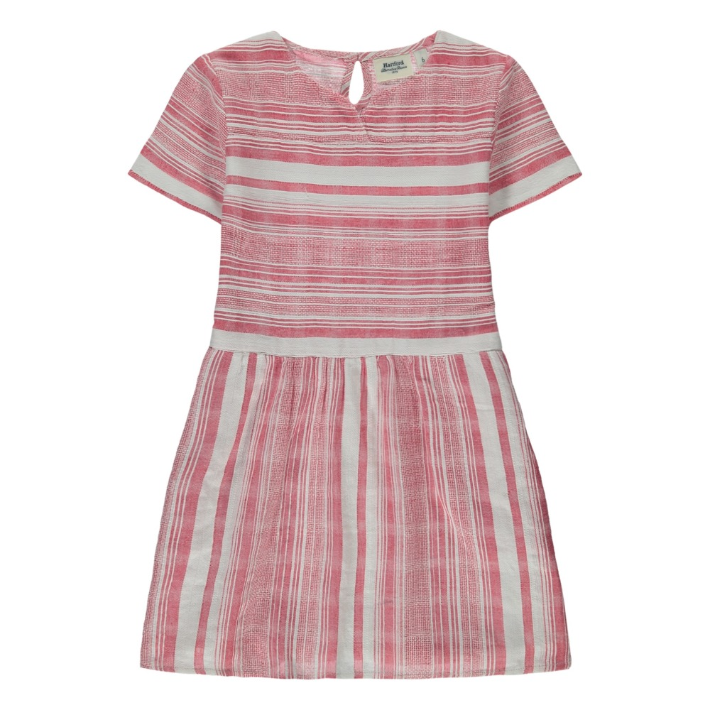 Gestreiftes Kleid Raya Rot Hartford Mode Teenager , Kind