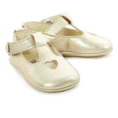 Bonton Heart Leather Mary Jane Slippers-listing