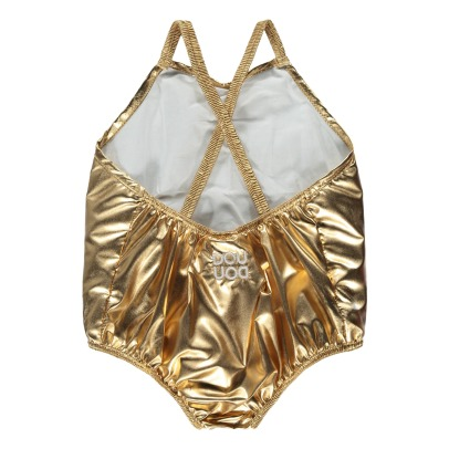Douuod Metallic 1 Piece Swimsuit-listing