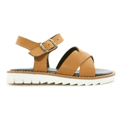 Pèpè Two Con Me - Cross Leather Sandals-listing