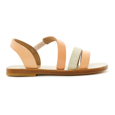 Bonton Lune Glitter Leather Sandals-listing