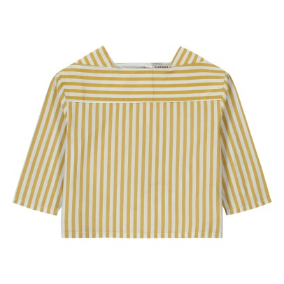 Caramel Inari Striped Blouse-listing