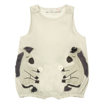 Stella McCartney Kids Barboteuse Coton Bio Ânes Mirabelle-listing