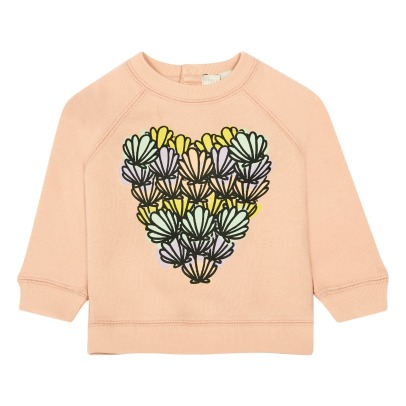 Stella McCartney Kids Betty Shell Heart Organic Cotton Sweatshirt-listing
