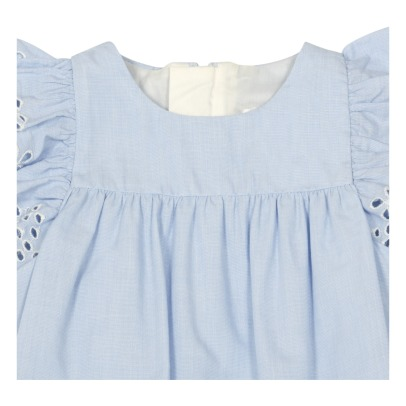 Chloé Embroidered Playsuit With Mother-Of-Pearl Buttons-listing